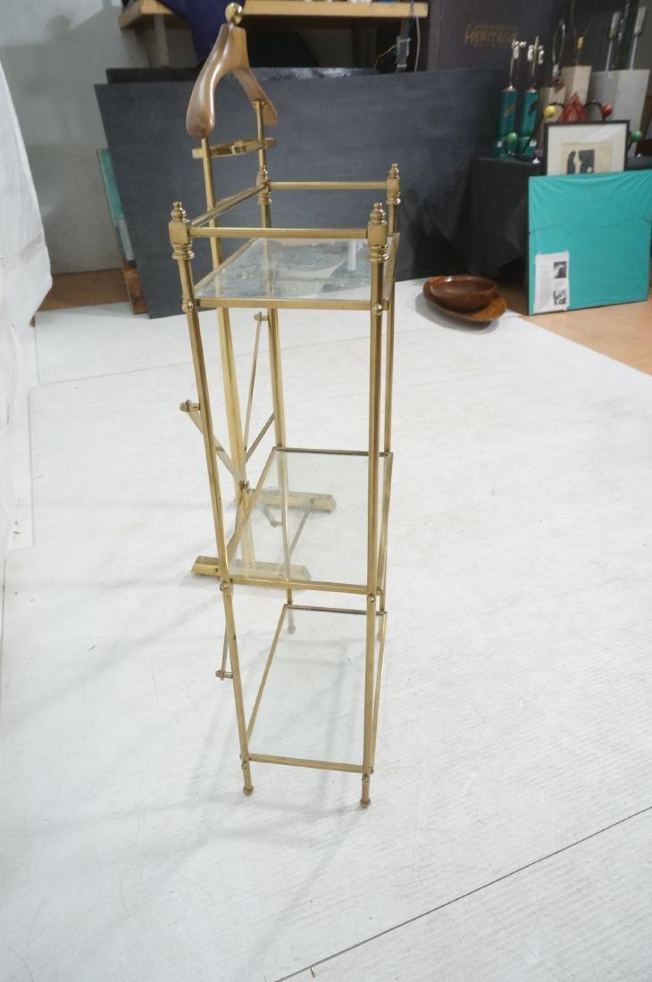 2Pc Modernist Brass Lot. 1) Italian style wood an - 10