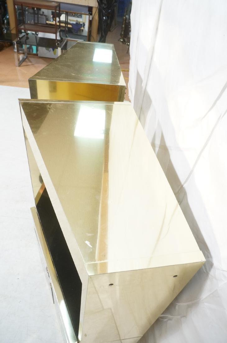 2Pc Modernist Brass Bar Cabinets. Black and brass - 9