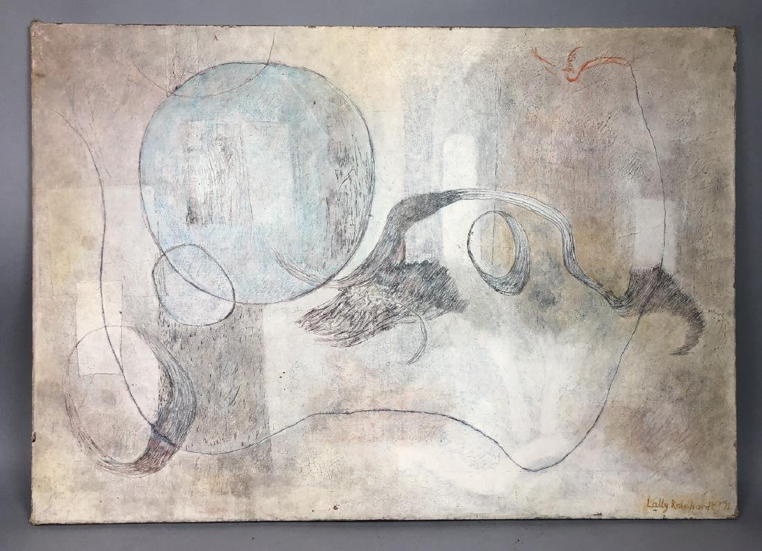 LALLY REINHARDT Modernist Abstract Oil Painting.