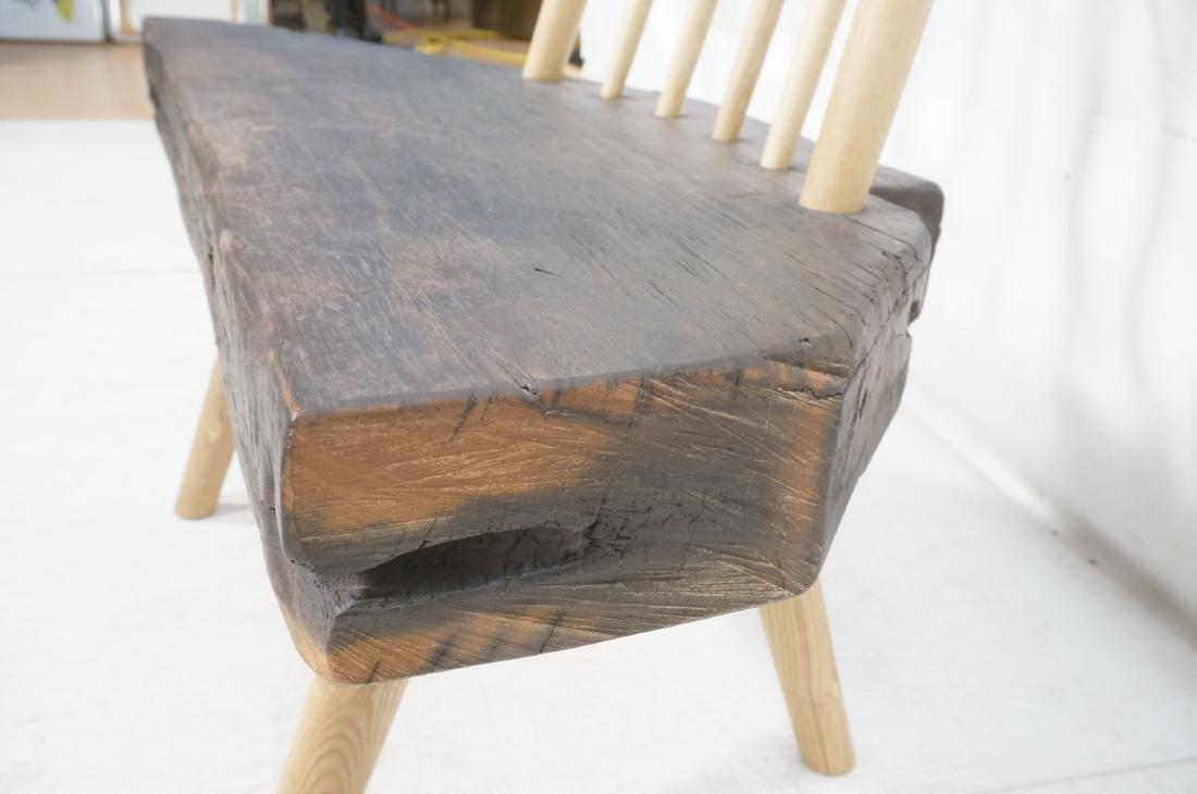 "American Studio Woodworker Wood Slab Bench. 3.5"" - 5"