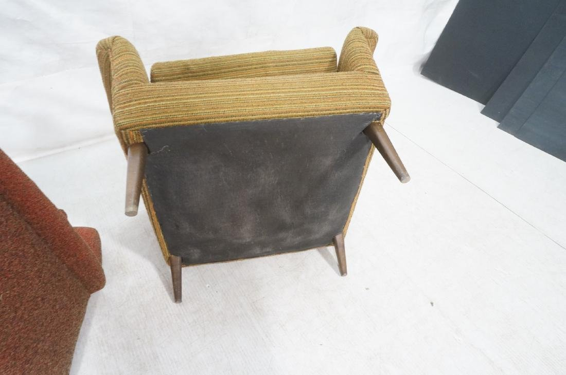 Pr Modernist Wide Arm Lounge Chairs. Mid century - 10