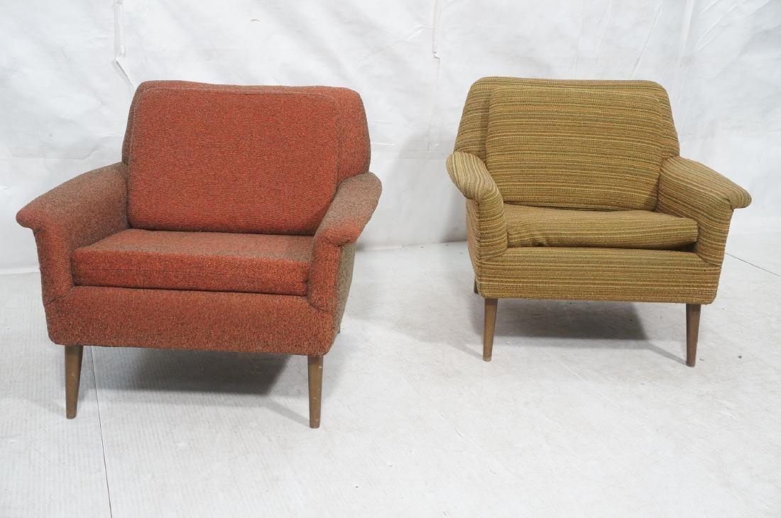 Pr Modernist Wide Arm Lounge Chairs. Mid century - 2