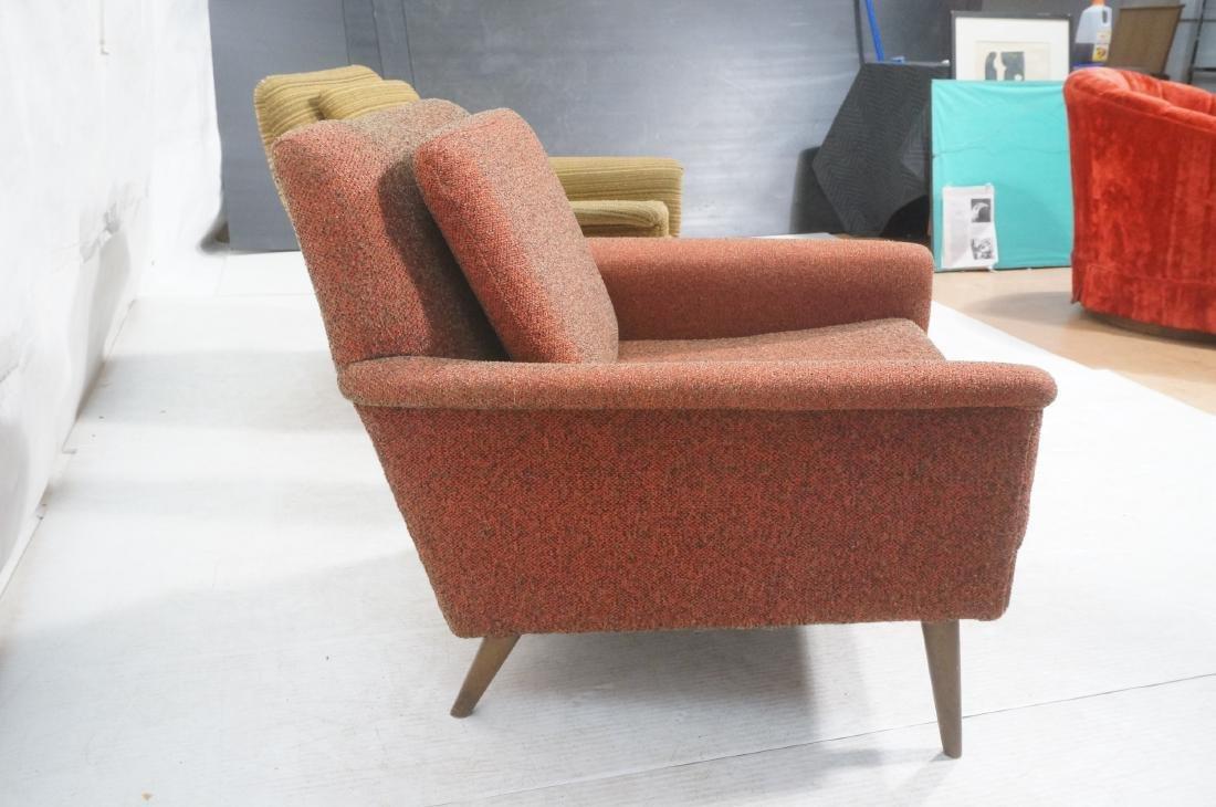 Pr Modernist Wide Arm Lounge Chairs. Mid century - 3