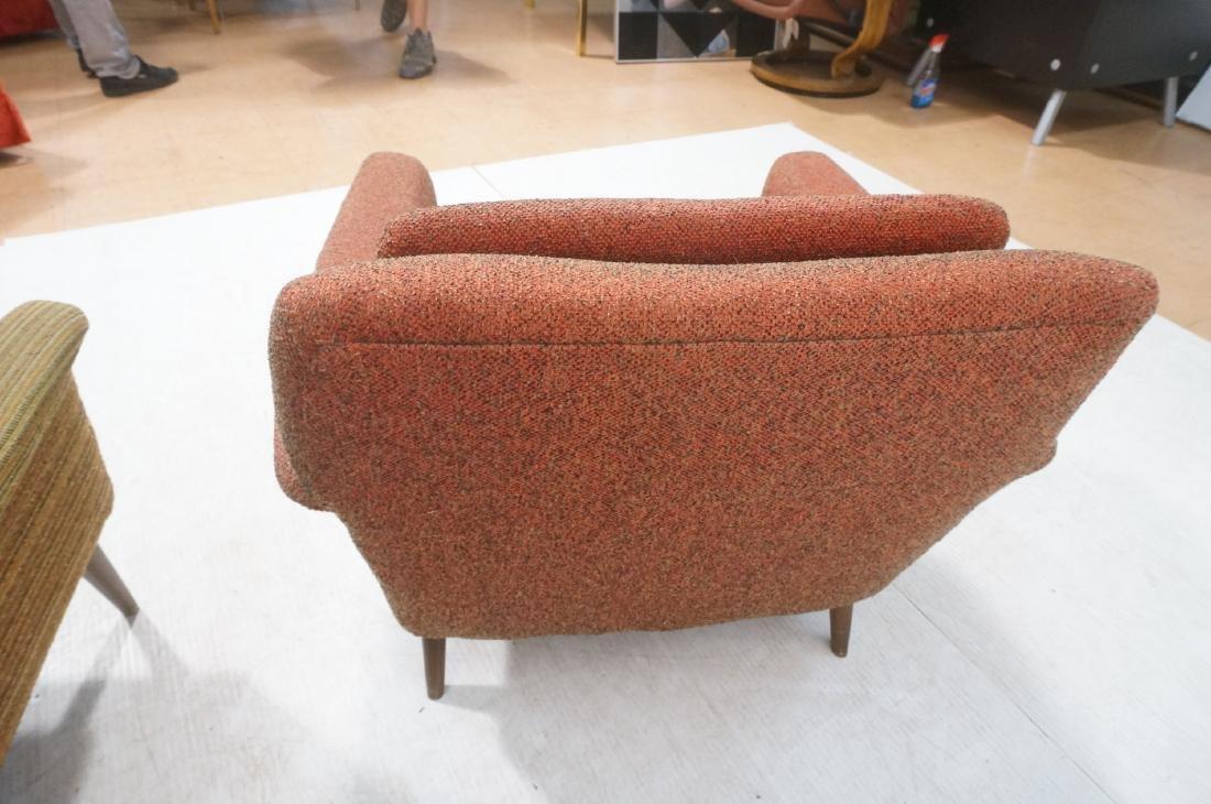 Pr Modernist Wide Arm Lounge Chairs. Mid century - 4