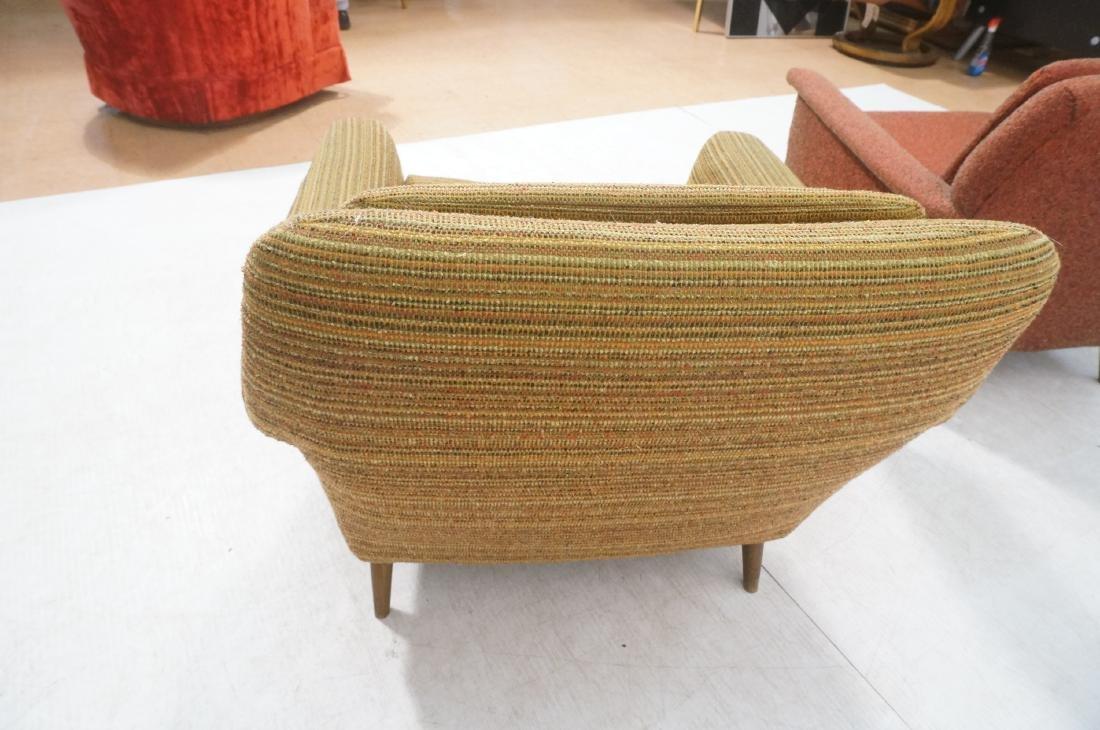 Pr Modernist Wide Arm Lounge Chairs. Mid century - 5