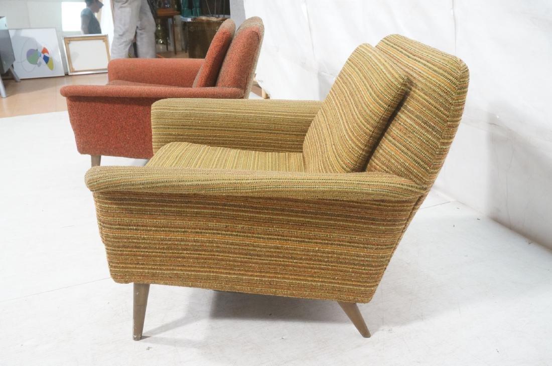 Pr Modernist Wide Arm Lounge Chairs. Mid century - 6