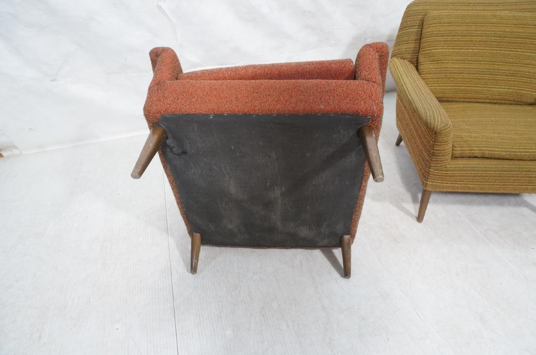Pr Modernist Wide Arm Lounge Chairs. Mid century - 9