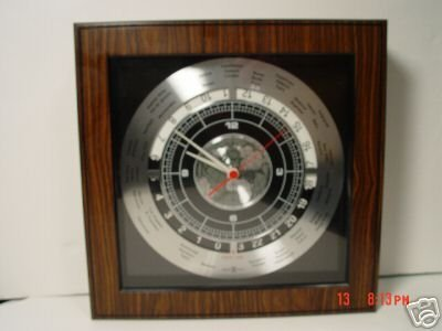 1: Howard Miller World Time Clock 622-337.  Still seale - 5