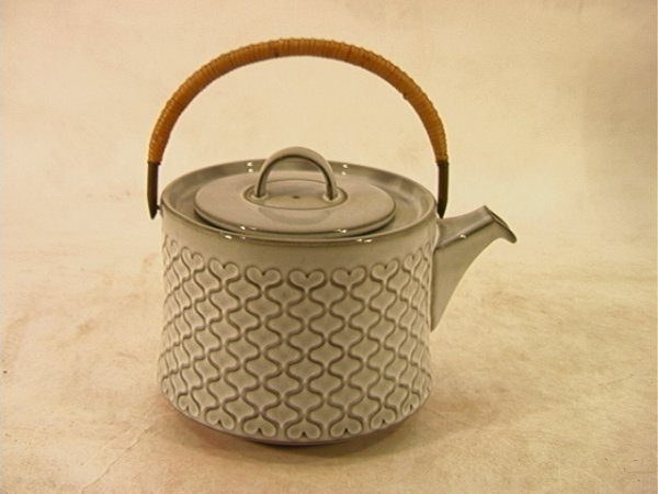 2: Nissen Corinal Denmark Ceramic Tea Pot Teapot.  Gray