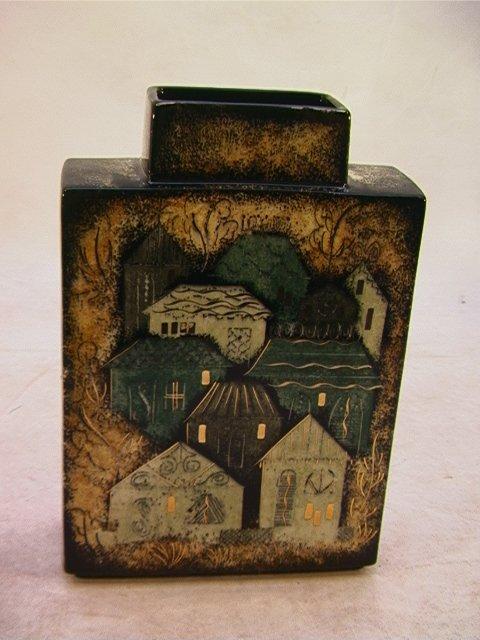 3: Sascha Brastoff Ceramic Vase.  California pottery.