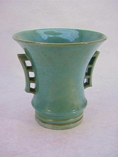 8: Large Stangl Vase with Fulper Glaze.  Orientalist de