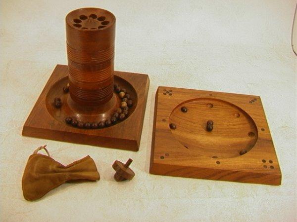 10: 2 SKJODE SKJERN Denmark Teak Wood Games. Roulette a