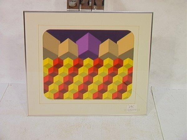 20: Modernist Geometric Silkscreen Print PANCOL VIII.