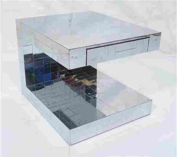 PAUL EVANS Cityscape Side End Table. U form side