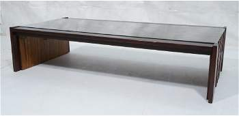 Brazilian Rosewood LAFER Sculptural Coffee Table.