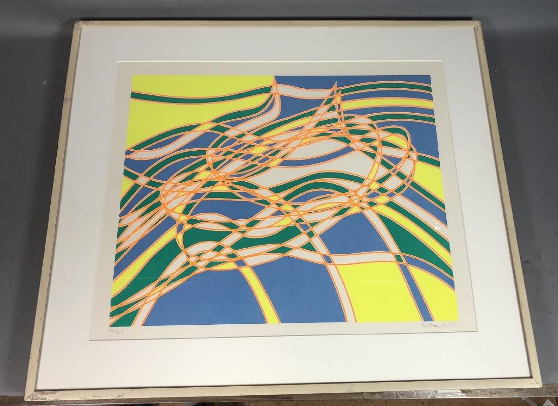 STANLEY WILLIAM HAYTER op Art Silkscreen Blue, ye