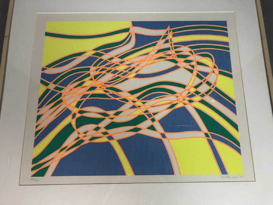 STANLEY WILLIAM HAYTER op Art Silkscreen Blue, ye - 2