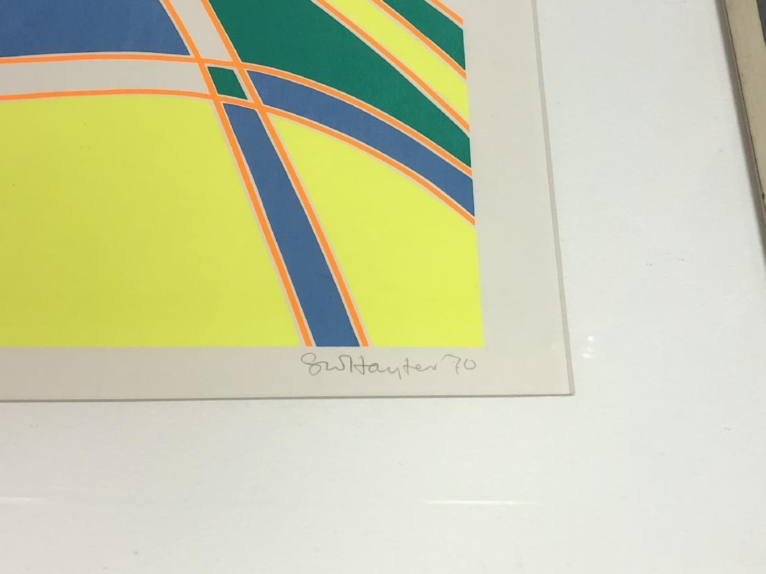 STANLEY WILLIAM HAYTER op Art Silkscreen Blue, ye - 3
