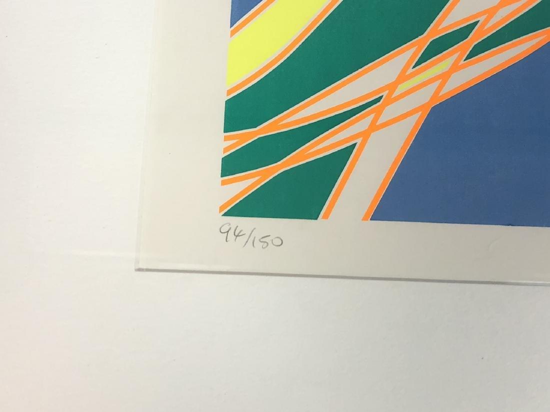 STANLEY WILLIAM HAYTER op Art Silkscreen Blue, ye - 4