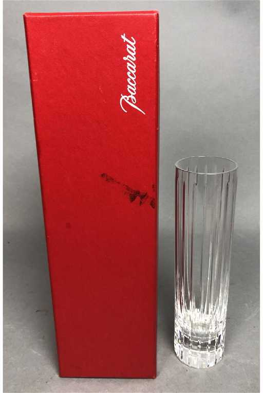 French Baccarat Crystal Harmonie Bud Vase Come