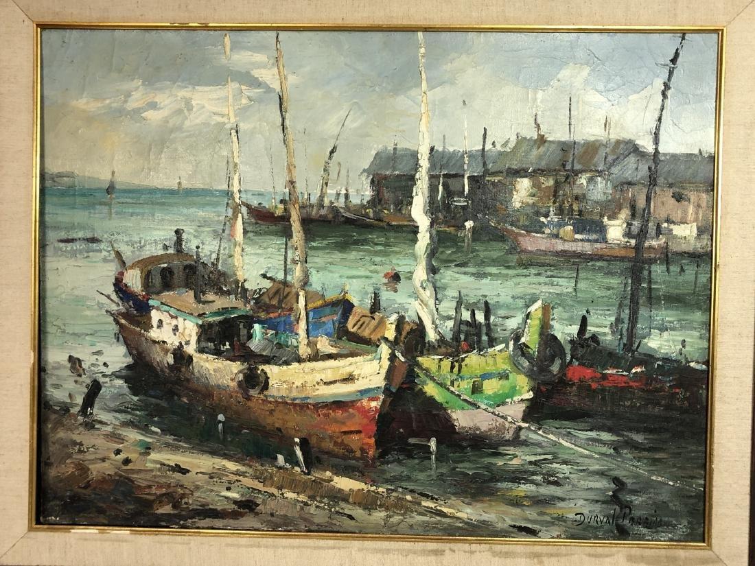 DURVAL PEREIRA Marine Scene Oil Painting. Fishing