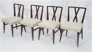 Set 4 Parzinger Style Modernist Decorator Dining