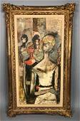 CHARLES LEVIER Modernist Abstract Portrait Painti