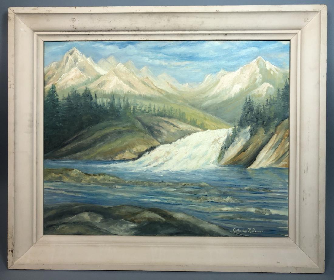 Catherine R. Brogan, oil painting on board, river