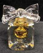 BACCARAT French Crystal Perfume Bottle Dimpled c