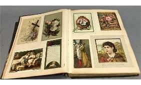 Large Scrapbook of Vintage Trade Cards, Advertisi