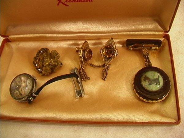523: Mixed lot Vintage Jewelry.  Victorian Earrings, Ba