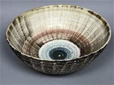 Large Mid Century Modern Pottery Center Bowl Bro