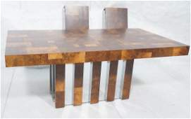 PAUL EVANS Burled Walnut Modernist Dining Table
