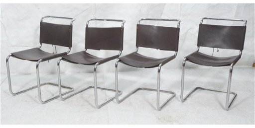 Sensational 4 Marcel Breuer Modern Leather Dining Chairs Bro Pdpeps Interior Chair Design Pdpepsorg
