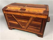 Tramp Art Handmade Footed Box Folk art chest Pi