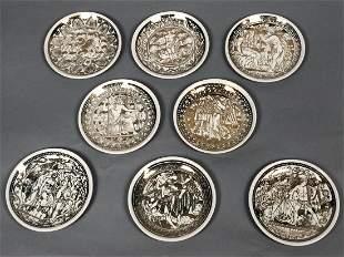 Set 8 PIERO FORNASETTI 'Mitologia' Coasters in or