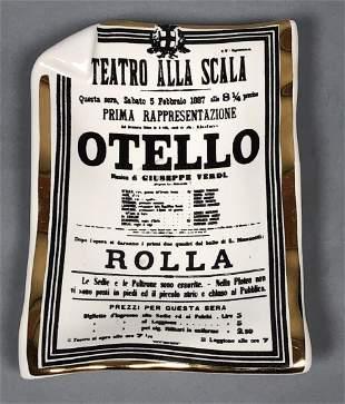 PIERO FORNASETTI Italian 'Otello' Playbill Tray D