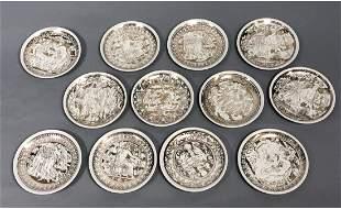 Set of 12 PIERO FORNASETTI 'Mitologia' Coasters.