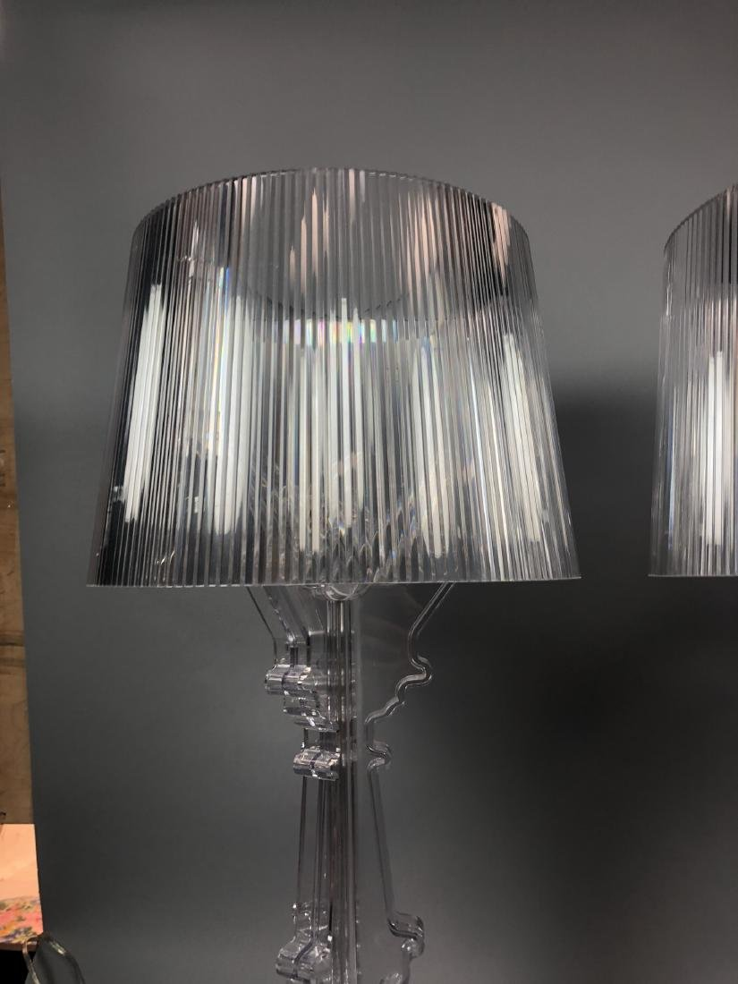 Pr KARTELL by F. LAVIANI Lucite 'Ghost' Lamps. Cl - 10