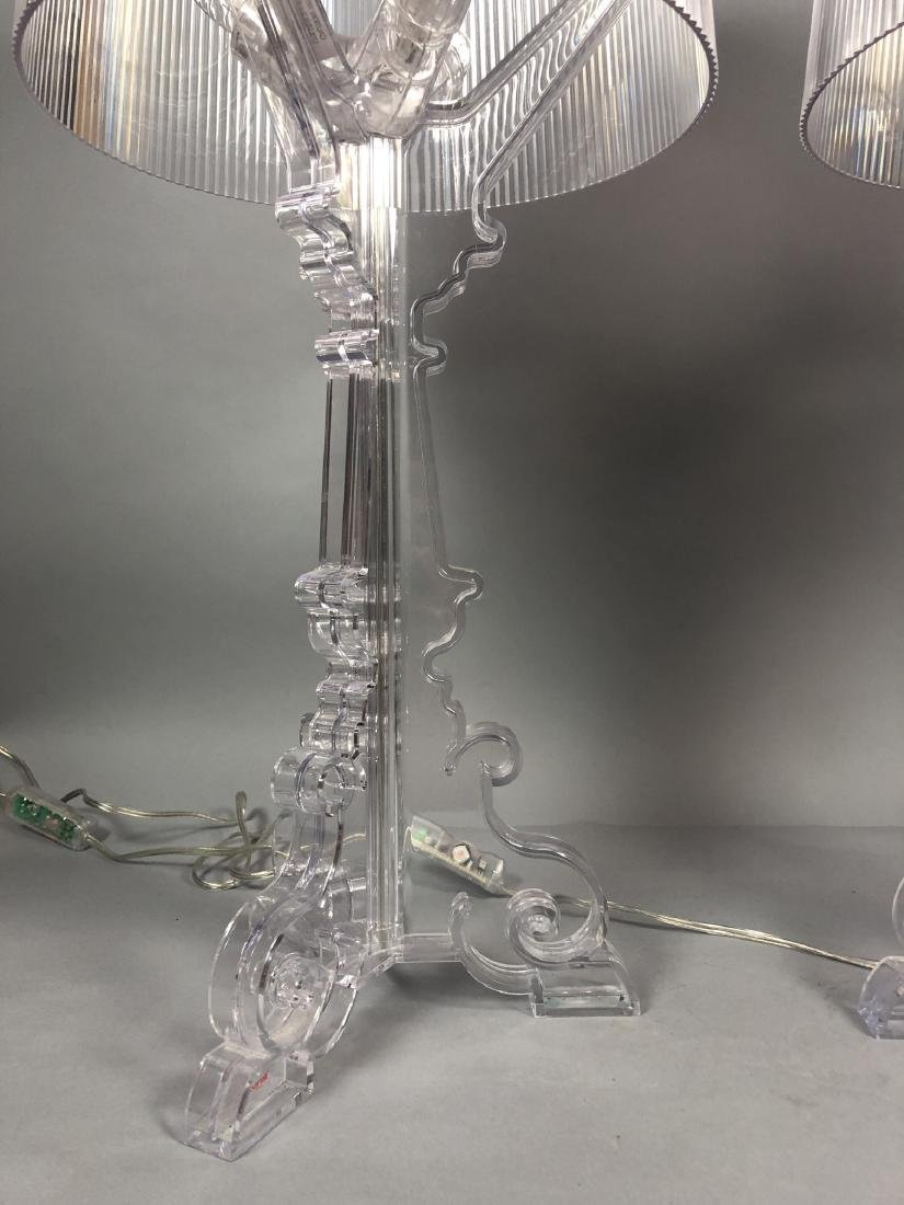 Pr KARTELL by F. LAVIANI Lucite 'Ghost' Lamps. Cl - 5