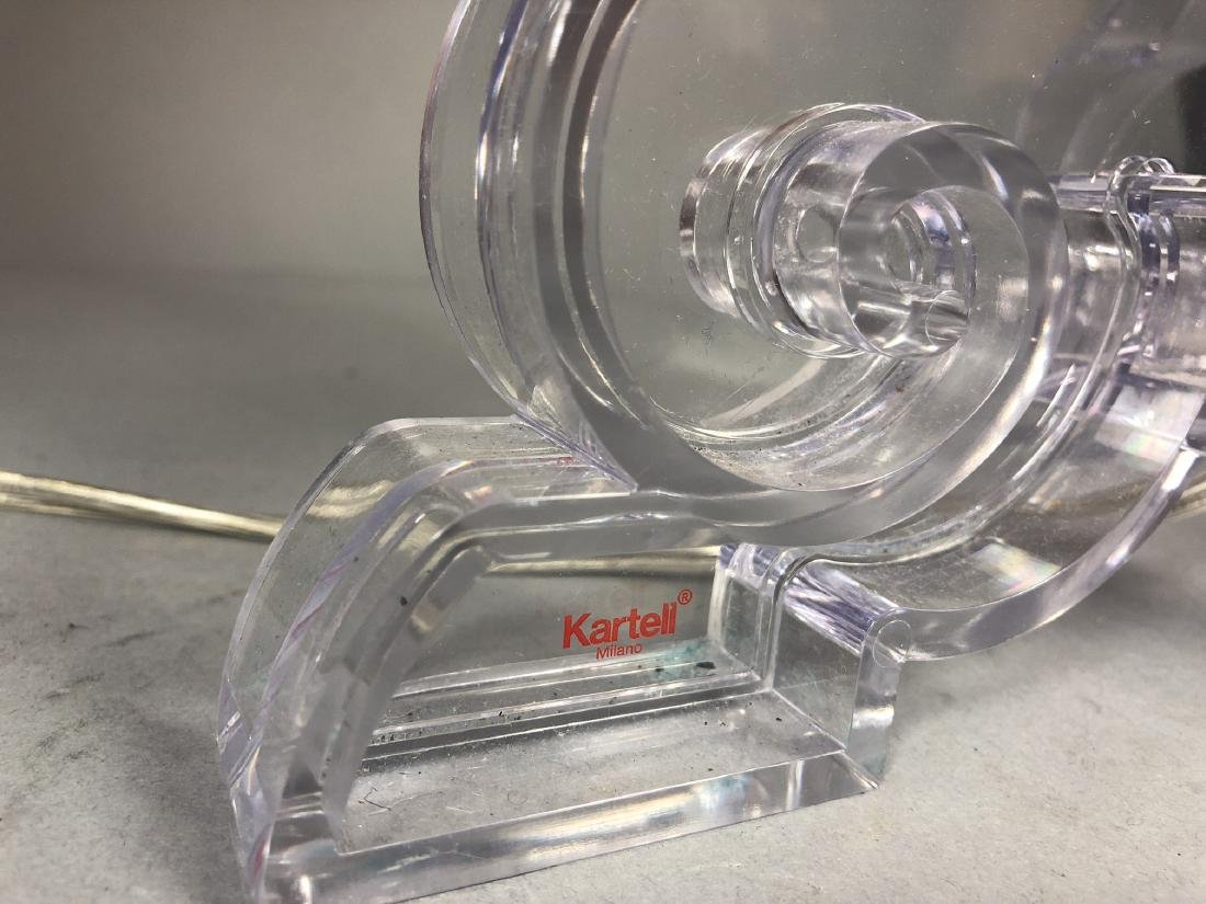 Pr KARTELL by F. LAVIANI Lucite 'Ghost' Lamps. Cl - 6