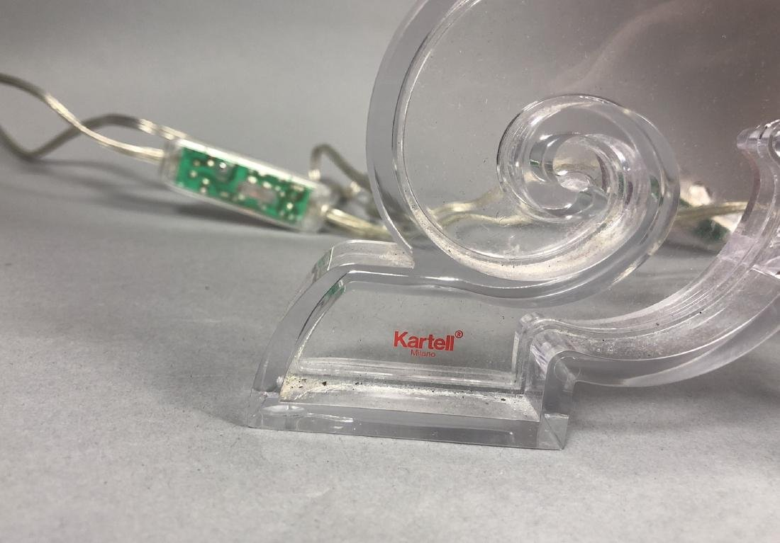 Pr KARTELL by F. LAVIANI Lucite 'Ghost' Lamps. Cl - 8