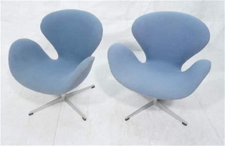 Pr FRITZ HANSEN Swan Modernist Lounge Chairs. Dan