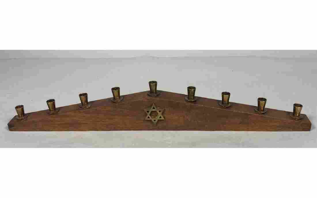 PAUL EVANS Walnut Menorah. the Jonathan Arched angle