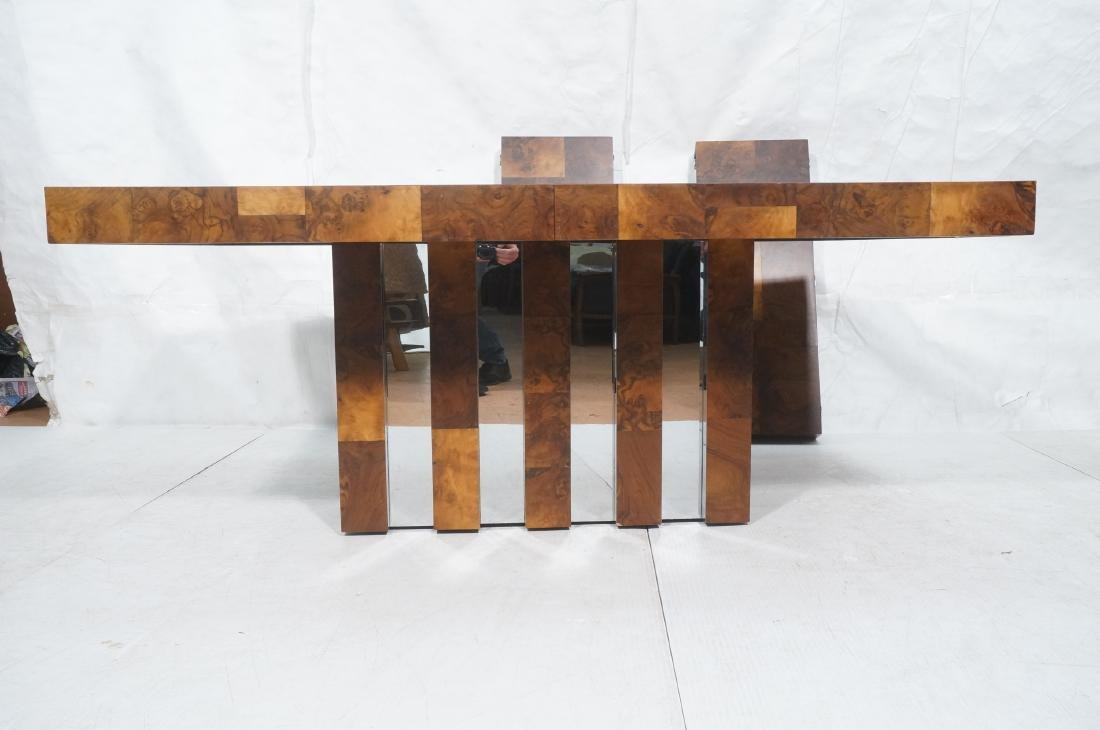 PAUL EVANS Burled Walnut Modernist Dining Table. - 2