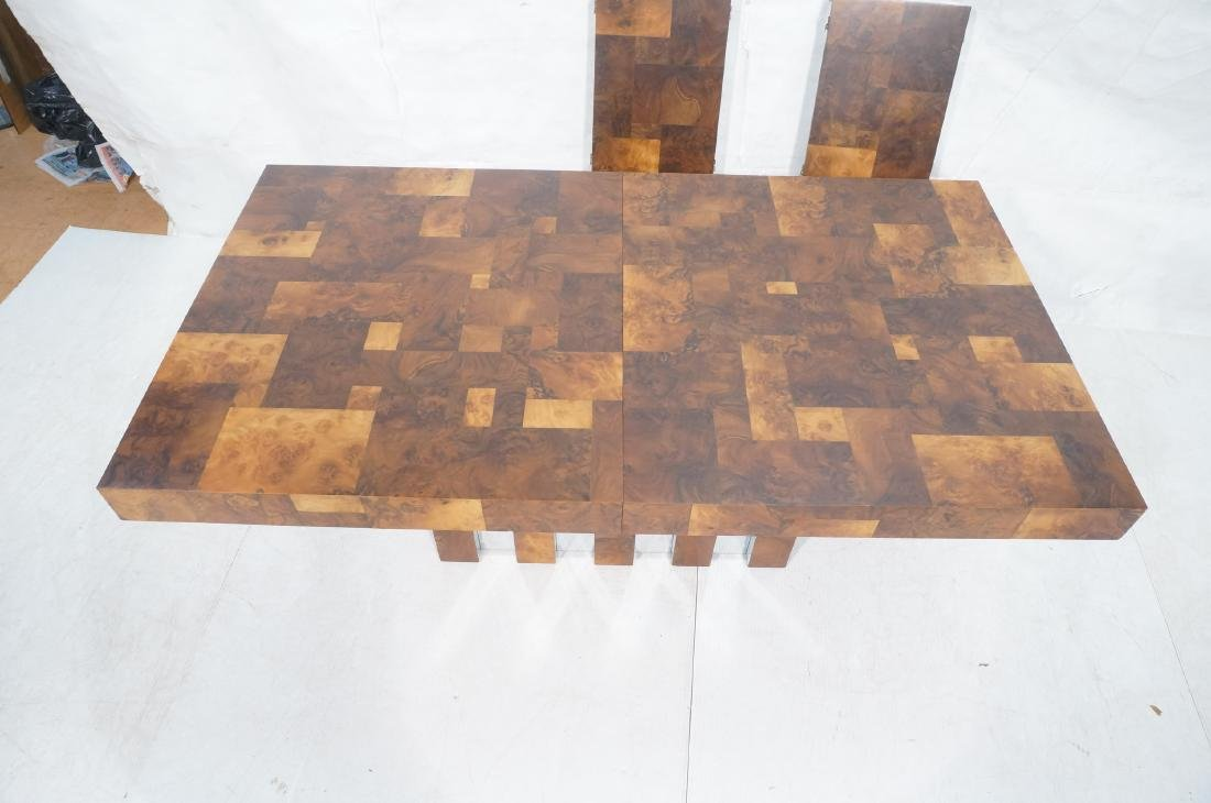 PAUL EVANS Burled Walnut Modernist Dining Table. - 3