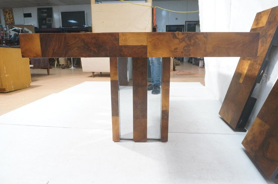 PAUL EVANS Burled Walnut Modernist Dining Table. - 6
