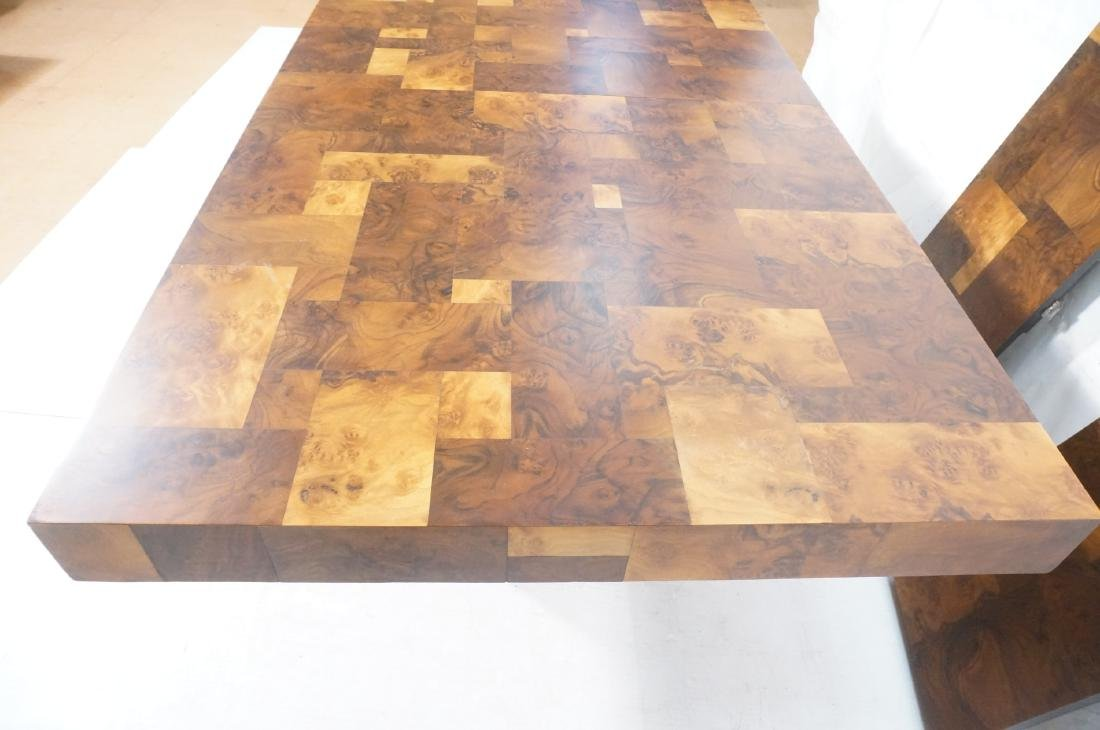 PAUL EVANS Burled Walnut Modernist Dining Table. - 9