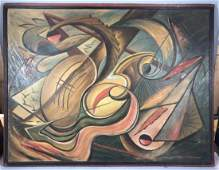 B. ANDERSON Modernist Abstract Oil Painting. Surr