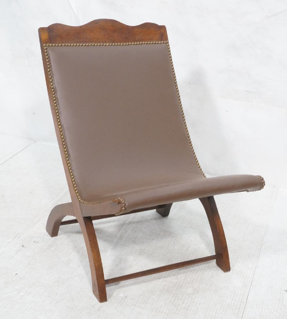 CLARA PORSET Butaque Brown Leather Lounge Chair.